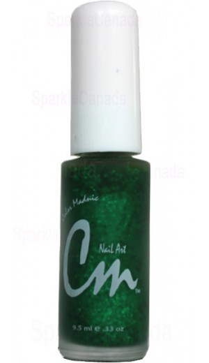 NA24 Green Glitter By CM Nail Art