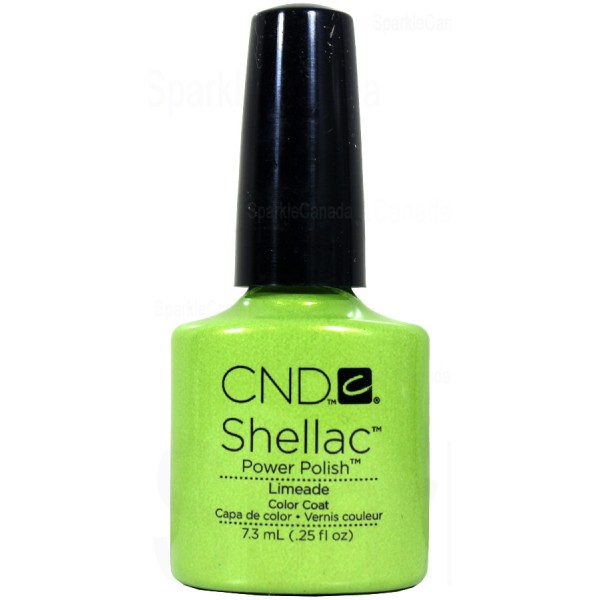 Cnd Shellac Limeade By Cnd Shellac 12 2013 Sparkle Canada One Nail Polish Place