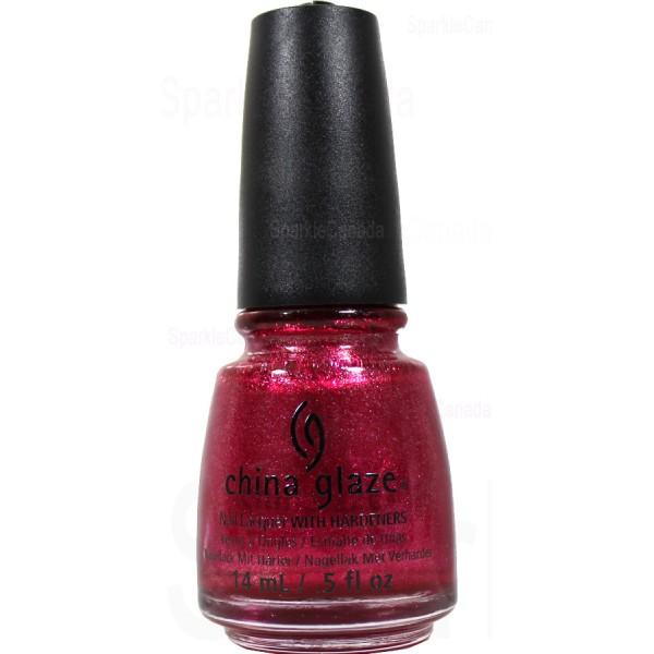 China Glaze Santa Red My List By China Glaze 1253 Sparkle Canada One Nail Polish Place
