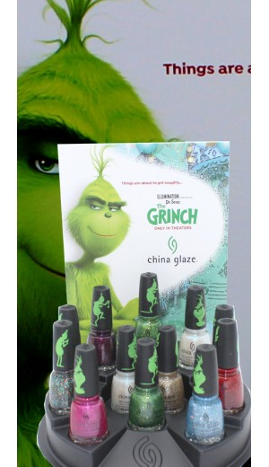 11-3263 China Glaze 2018 The Grinch Collection