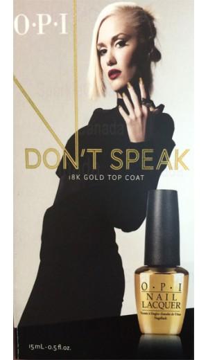 hrf19 OPI Don t Speak 18K Gold Leaf Top Coat By OPI Nail Care