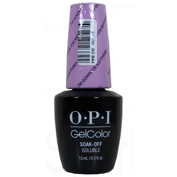 Opi Gel Color I M Gown For Anything By Opi Gel Color Gcba4