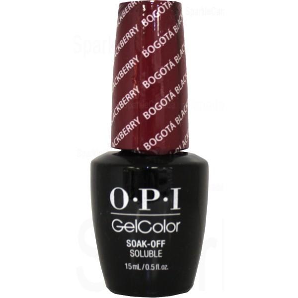 Opi Gel Color Bogota Blackberry By Opi Gel Color Gcf52