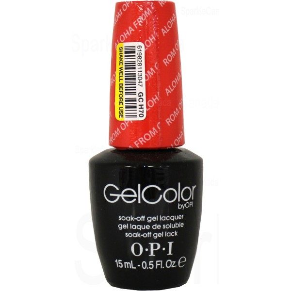 OPI Gel Color, Aloha From OPI By OPI Gel Color, GCH70 ...