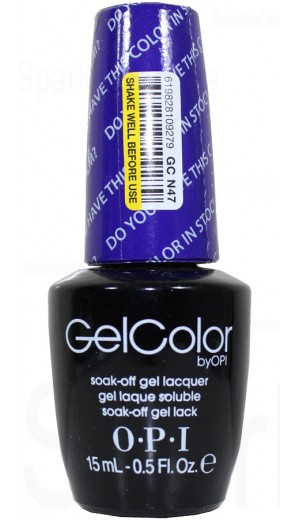 GCN47 Do You Have this Color in Stock-holm? By OPI Gel Color