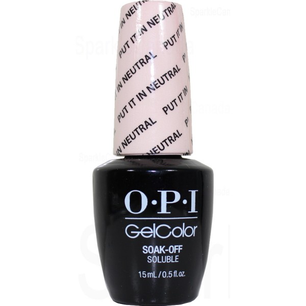 OPI Gel Color, Put It In Neutral By OPI Gel Color, GCT65 | Sparkle ...