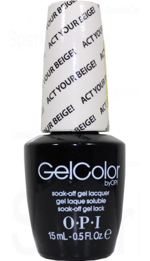 GCT66 Act Your Beige! By OPI Gel Color