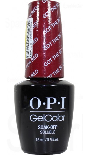 GCW52 Got The Blues For Red By OPI Gel Color
