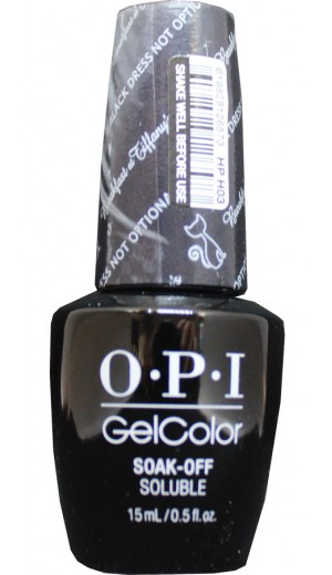 HPH03 Black Dress Not Optional By OPI Gel Color