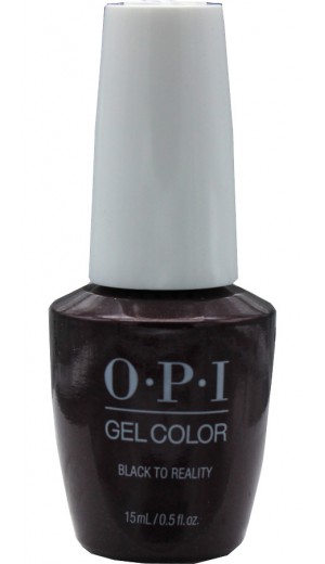 HPK12 Black to Reality By OPI Gel Color