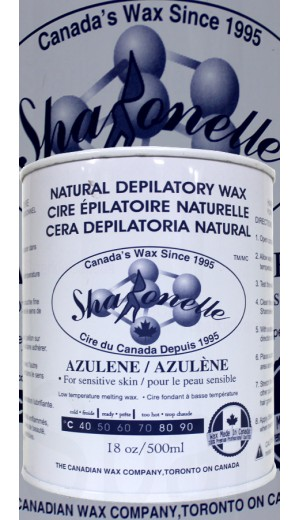 23-916 500ml Azulene Natural Depilatory Hair Removal Wax By Sharonelle