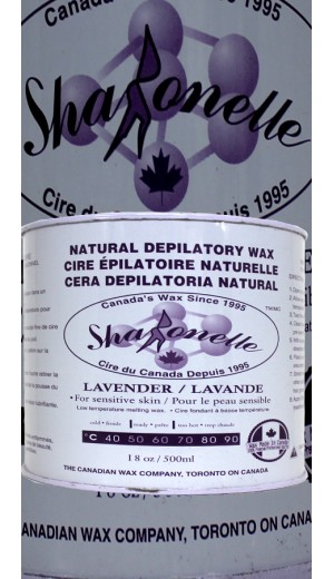 23-695 500ml Lavender Natural Depilatory Hair Removal Wax For Sensitive Skin By Sharonelle
