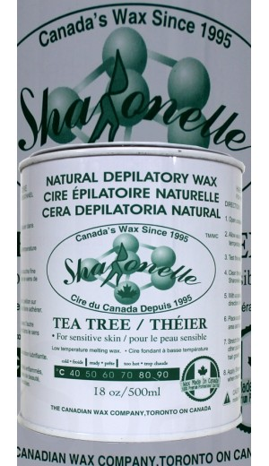 23-692 500ml Tea Tree Oil Natural Depilatory Hair Removal Wax By Sharonelle