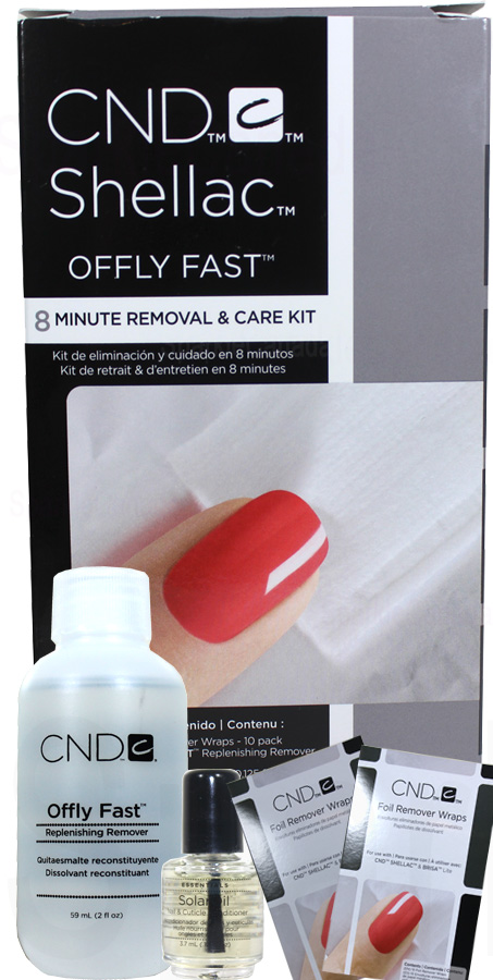 Cnd Shellac Offly Fast 8 Minute Removal Amp Care Kit By