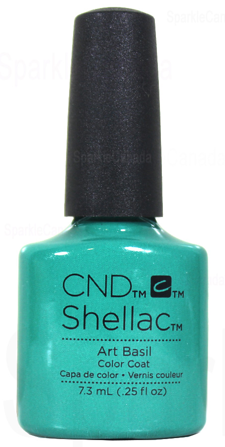 Cnd Shellac Art Basil By Cnd Shellac 12 1857 Sparkle Canada One Nail Polish Place
