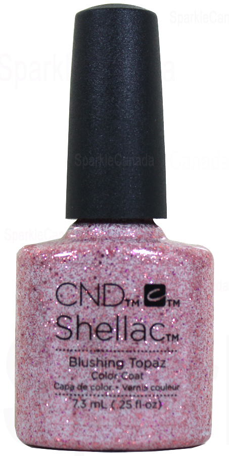 Cnd Shellac Blushing Topaz By Cnd Shellac 12 2610 Sparkle Canada One Nail Polish Place