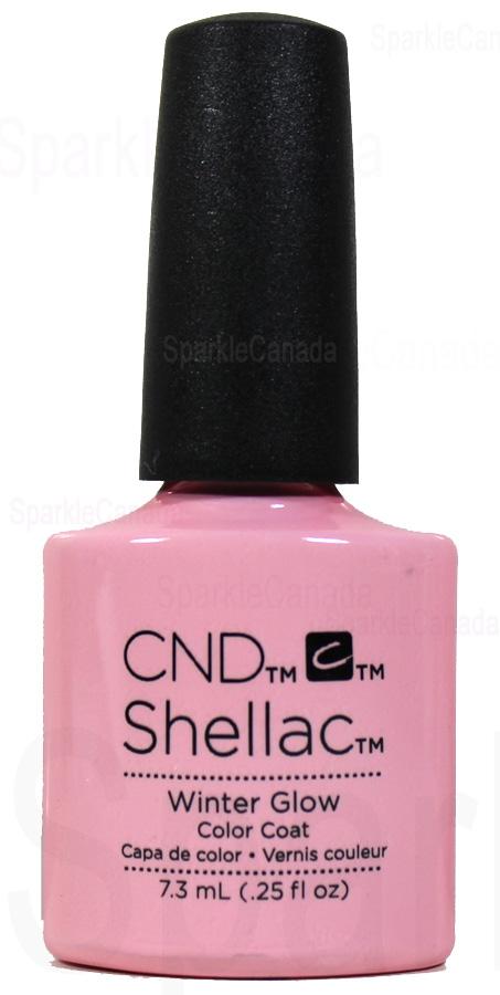 Light pink glitter nail polish