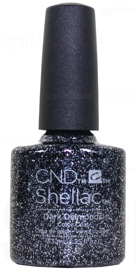Cnd Shellac Dark Diamonds By Cnd Shellac 12 2611 Sparkle Canada One Nail Polish Place