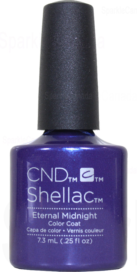 Cnd Shellac Eternal Midnight By Cnd Shellac 12 2843 Sparkle Canada One Nail Polish Place