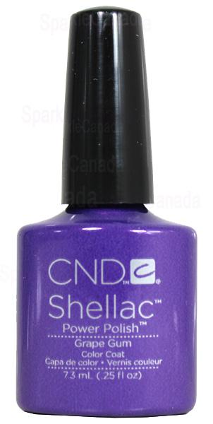 Cnd Shellac Grape Gum By Cnd Shellac 12 424 Sparkle Canada One Nail Polish Place