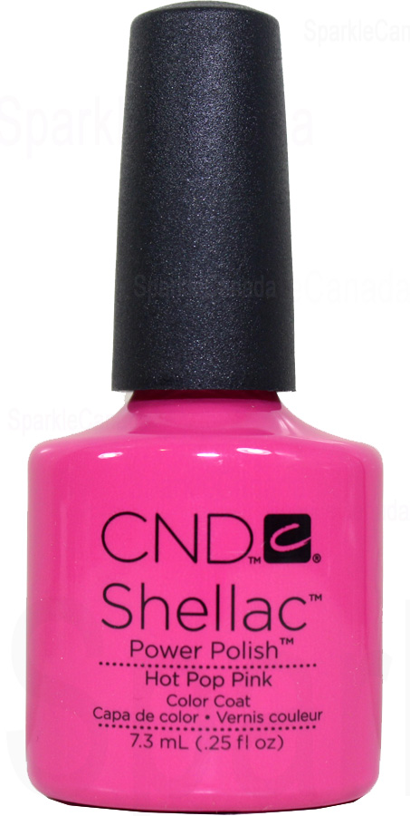 Cnd Shellac Hot Pop Pink By Cnd Shellac 12 2012 Sparkle Canada One Nail Polish Place