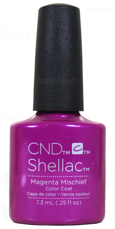 Cnd Shellac Magenta Mischief By Cnd Shellac 12 1859 Sparkle Canada One Nail Polish Place