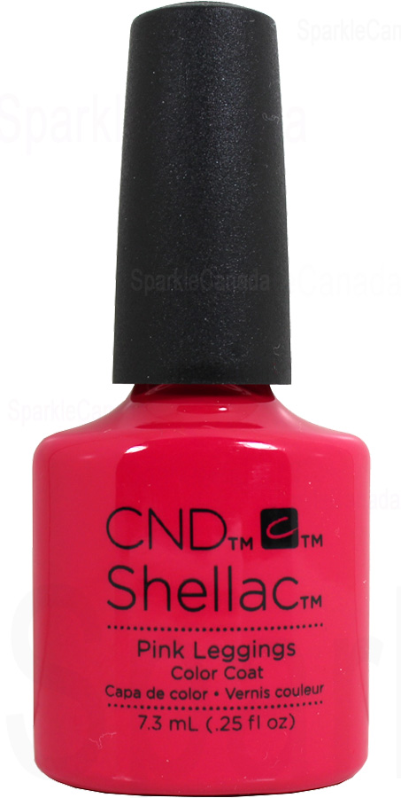 Cnd Shellac Pink Leggings By Cnd Shellac 12 2747 Sparkle Canada One Nail Polish Place