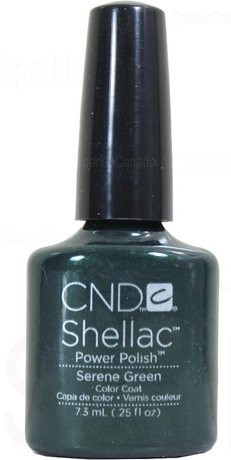 Cnd Shellac Serene Green By Cnd Shellac 12 3135 Sparkle Canada One Nail Polish Place