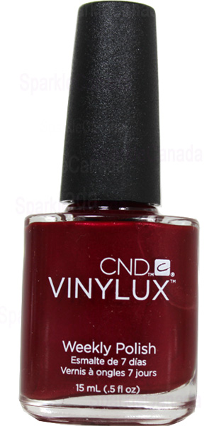 Cnd Vinylux Red Baroness By Cnd Vinylux 139 Sparkle Canada One Nail Polish Place