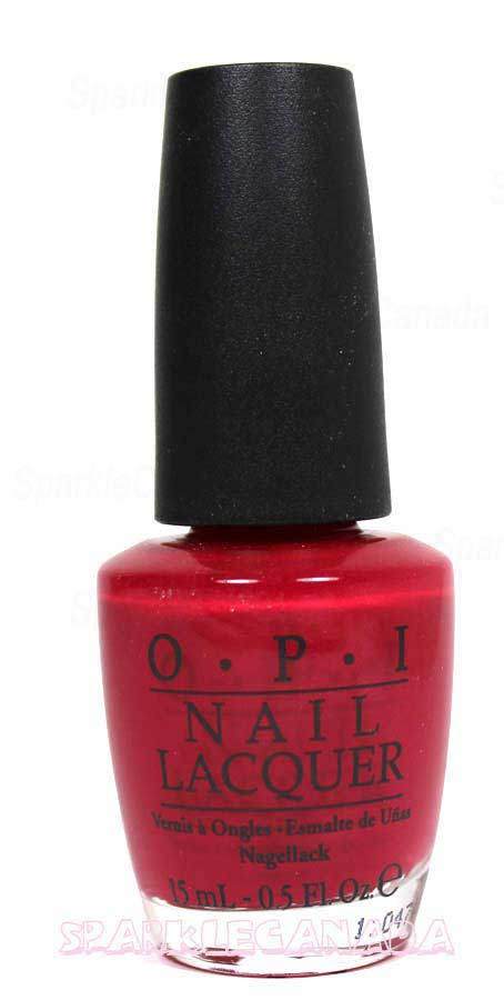 Opi Opi Red By Opi Nll72 Sparkle Canada One Nail Polish Place