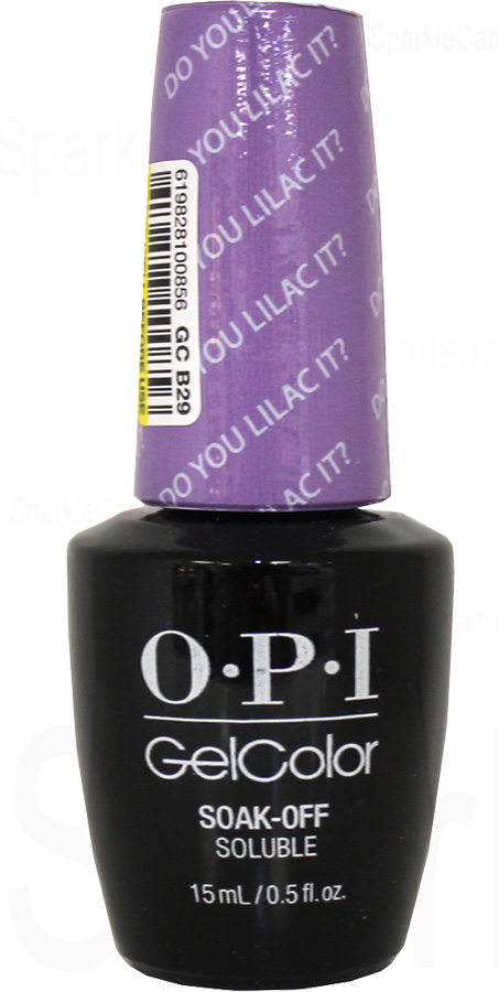 Opi Gel Color Do You Lilac It By Opi Gel Color Gcb29