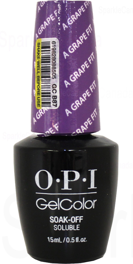 Opi Gel Color A Grape Fit By Opi Gel Color Gcb87 Sparkle Canada One Nail Polish Place