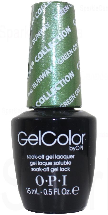 Opi Gel Color Green On The Runway By Opi Gel Color Gcc18