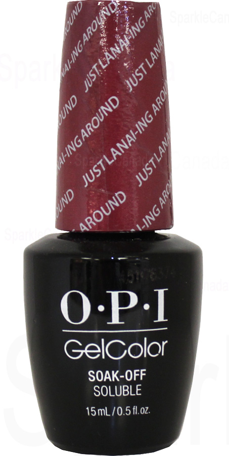 Opi Gel Color Just Lanai Ing Around By Opi Gel Color