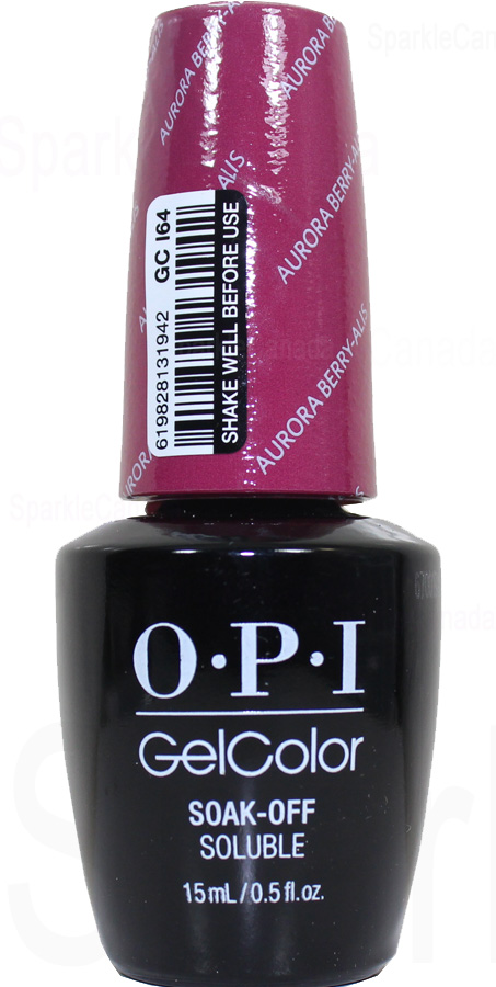 Opi Gel Color Aurora Berry Alis By Opi Gel Color Gci64 Sparkle Canada One Nail Polish Place