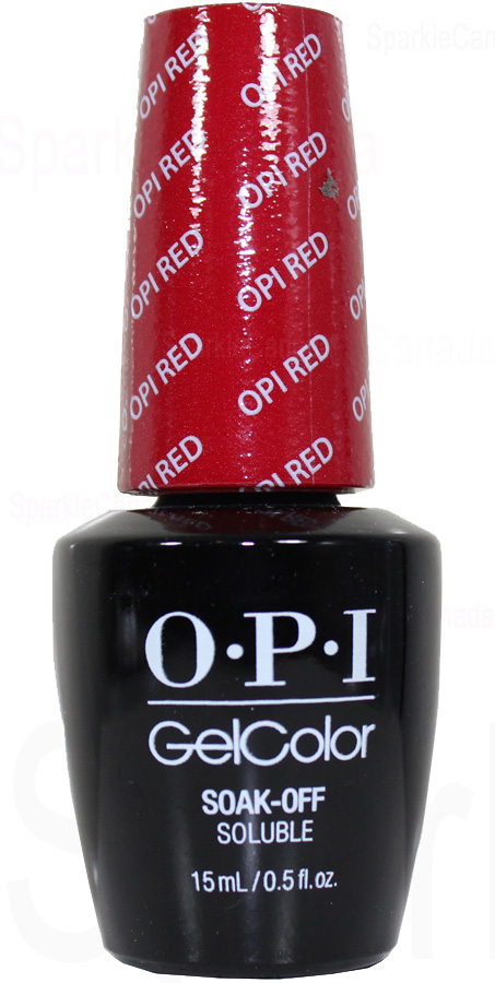 Opi Gel Color Opi Red By Opi Gel Color Gcl72 Sparkle Canada One Nail Polish Place