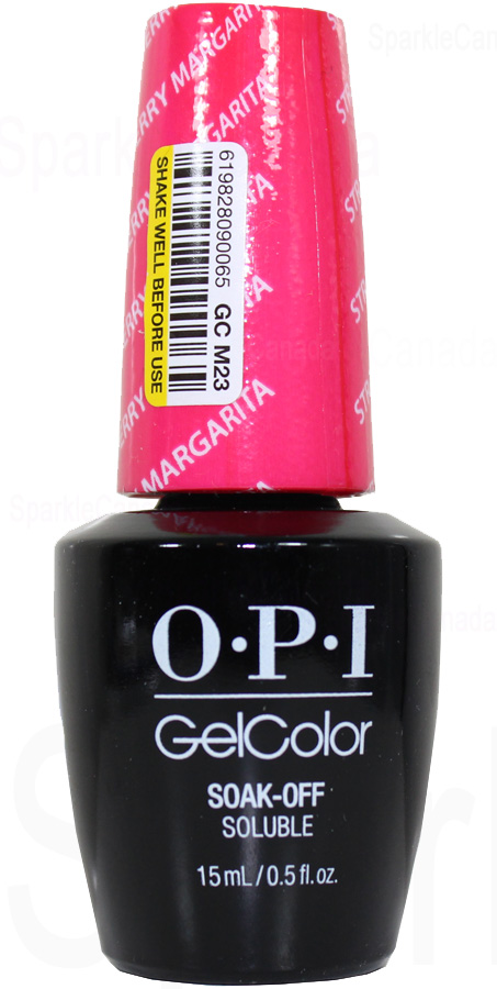 Opi Gel Color Strawberry Margarita By Opi Gel Color Gcm23 Sparkle Canada One Nail Polish Place