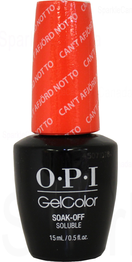 Opi Gel Color Can T Afjord Not To By Opi Gel Color Gcn43