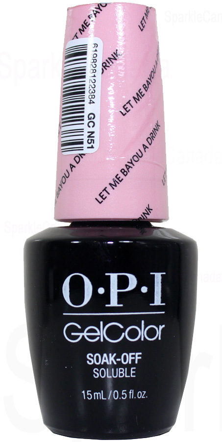 Opi Gel Color Let Me Bayou A Drink By Opi Gel Color Gcn51 Sparkle Canada One Nail Polish Place