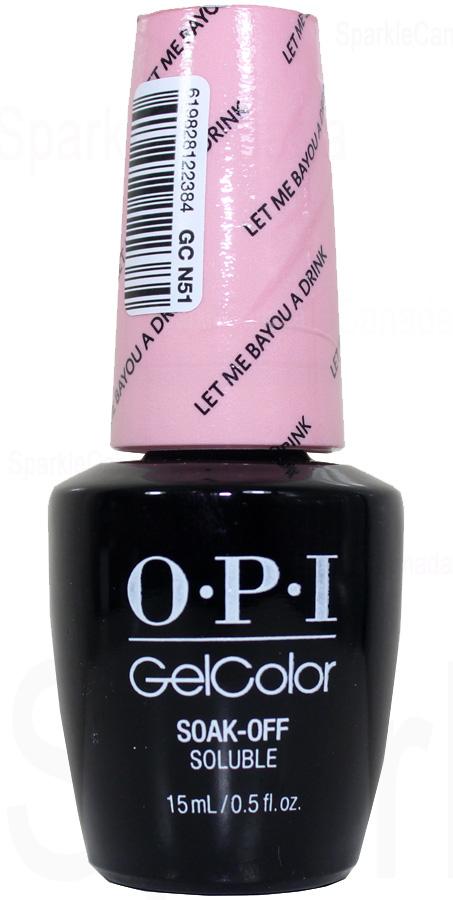Opi Gel Color Let Me Bayou A Drink By Opi Gel Color