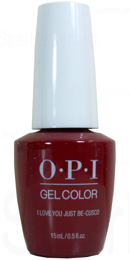 Opi Gel Color I Love You Just Be Cusco By Opi Gel Color Gcp39 Sparkle Canada One Nail