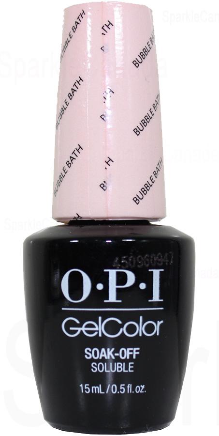 Opi Gel Color Bubble Bath By Opi Gel Color Gcs86