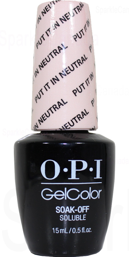 Opi Gel Color Put It In Neutral By Opi Gel Color Gct65 Sparkle Canada One Nail Polish Place
