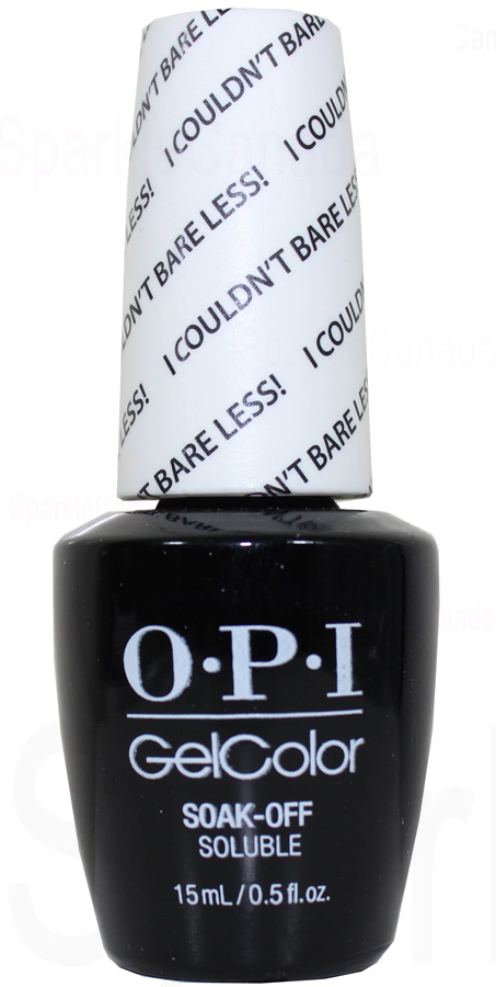 Opi Gel Color I Couldn T Bare Less By Opi Gel Color Gct70 Sparkle Canada One Nail Polish Place