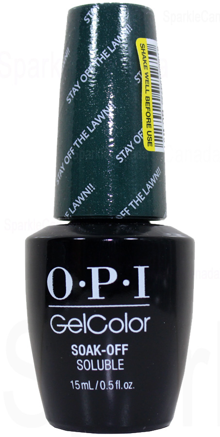 Opi Gel Color Stay Off The Lawn By Opi Gel Color Gcw54
