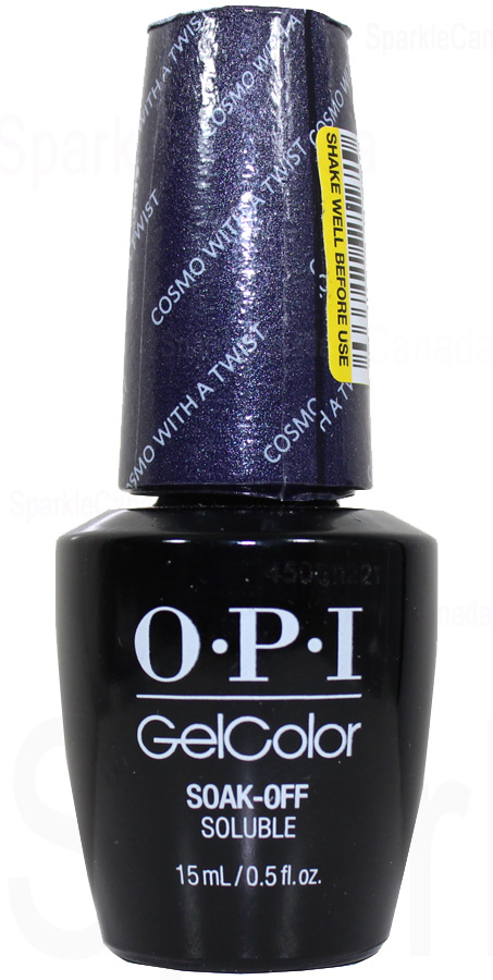 Opi Gel Color Cosmo With A Twist By Opi Gel Color Hpg36 Sparkle Canada One Nail Polish Place